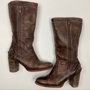 Bed Stu Womens Distressed Tall Leather Boot 8